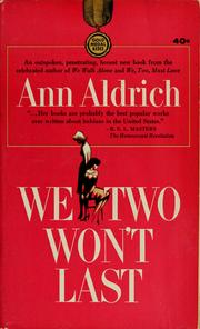 Cover of: We two won't last