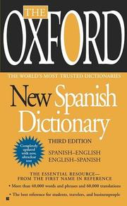 Cover of: The Oxford New Spanish Dictionary by