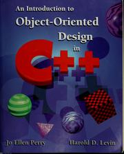 Cover of: An introduction to object-oriented design in C++ | Jo Ellen Perry