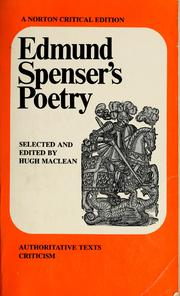 Cover of: Poetry; authoritative texts [and] criticism. | Edmund Spenser
