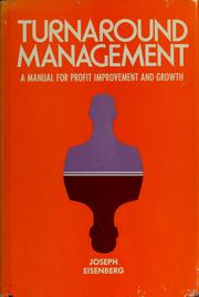 Cover of: Turnaround management | Joseph Eisenberg