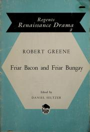 Cover of: Friar Bacon and Friar Bungay