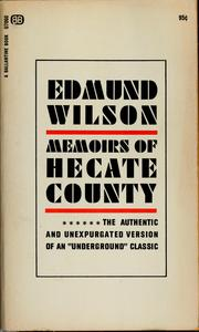 Cover of: Memoirs of Hecate County