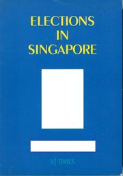 Cover of: Elections in Singapore 1948-1996 |