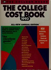 Cover of: The college cost book 1993
