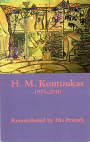Cover of: H. M. Koutoukas 1937-2010 | Magie Dominic