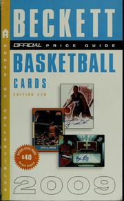 Cover of: The official 2009 price guide to basketball cards