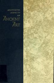 Cover of: Aesthetic aspects of ancient art