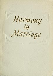 Cover of: Harmony in marriage