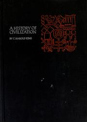 Cover of: A History of civilization |