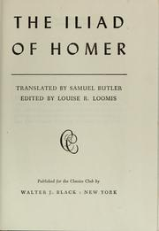 Cover of: The Iliad of Homer | Homer