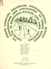 Cover of: North Carolina statewide archaeological survey |