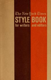 Cover of: The New York times style book for writers and editors