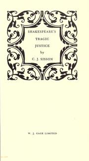 Cover of: Shakespeare's tragic justice