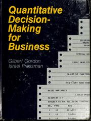 Cover of: Quantitative decision making for business