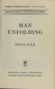 Cover of: Man unfolding