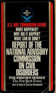 Cover of: Report of the National Advisory Commission on Civil Disorders | Tom Wicker