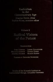 Cover of: Radical visions of the future