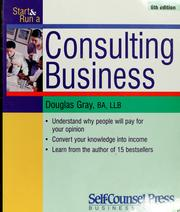 Cover of: Start and run a consulting business