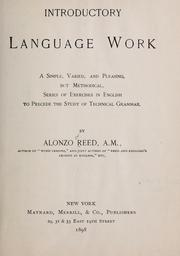 Cover of: Introductory language work | Reed, Alonzo