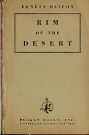 Cover of: Rim of the desert | Ernest Haycox