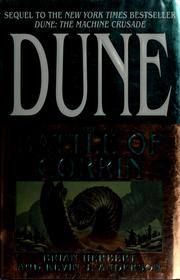 Cover of: Dune: Battle of Corrin