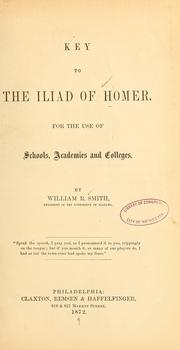 Cover of: Key to the Iliad of Homer