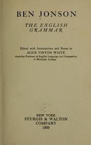 Cover of: The English grammar
