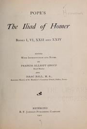Cover of: Pope's The Iliad of Homer, books I, VI, XXII and XXIV