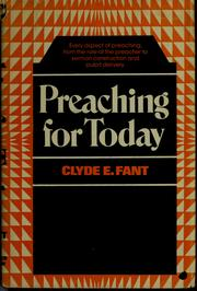 Cover of: Preaching for today