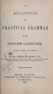 Cover of: An analytical and practical grammar of the English language | Peter Bullions