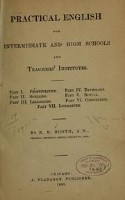 Cover of: Practical English for intermediate and high schools and teachers