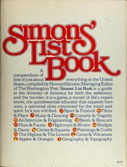 Cover of: Simons' list book