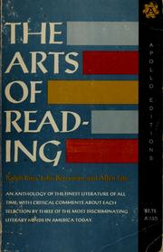 Cover of: The arts of reading | Ralph Gilbert Ross
