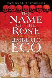 Cover of: The Name of the Rose by Umberto Eco