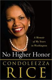 Cover of: No Higher Honor