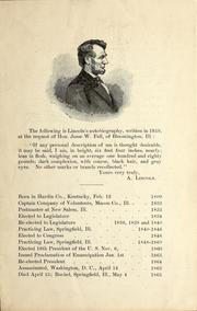 Cover of: [A paragraph, two speeches, and a letter by Abraham Lincoln, as well as a brief chronology of his life]