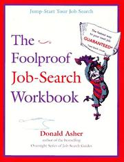 Cover of: The foolproof job-search workbook