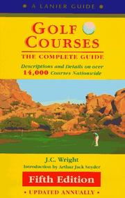 Cover of: Golf Courses | J. C. Wright