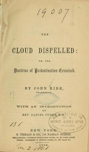 Cover of: The cloud dispelled...