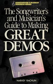Cover of: The songwriter's and musician's guide to making great demos