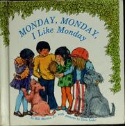Cover of: Monday, Monday, I like Monday