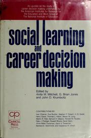 Cover of: Social learning and career decision making