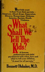 Cover of: What shall we tell the kids?