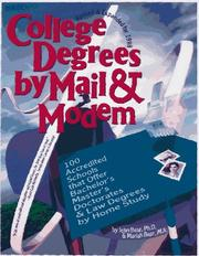 Cover of: College Degrees by Mail & Modem 1998  | John Bear