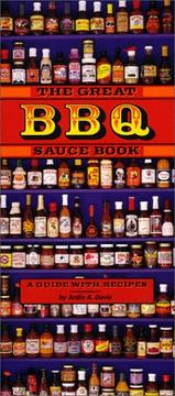 Cover of: great BBQ sauce book | Remus Powers