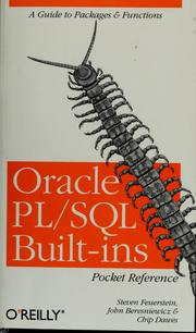 Cover of: Oracle PL/SQL built-ins pocket reference