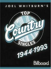 Cover of: Joel Whitburn's top country singles, 1944-1993