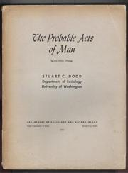 Cover of: The probable acts of man