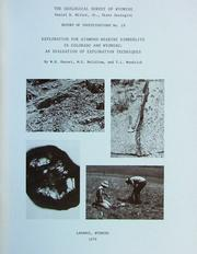 Cover of: Exploration for diamond-bearing kimberlite in Colorado and Wyoming